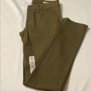 Arizona jeans sz 9 , super skinny style , olive